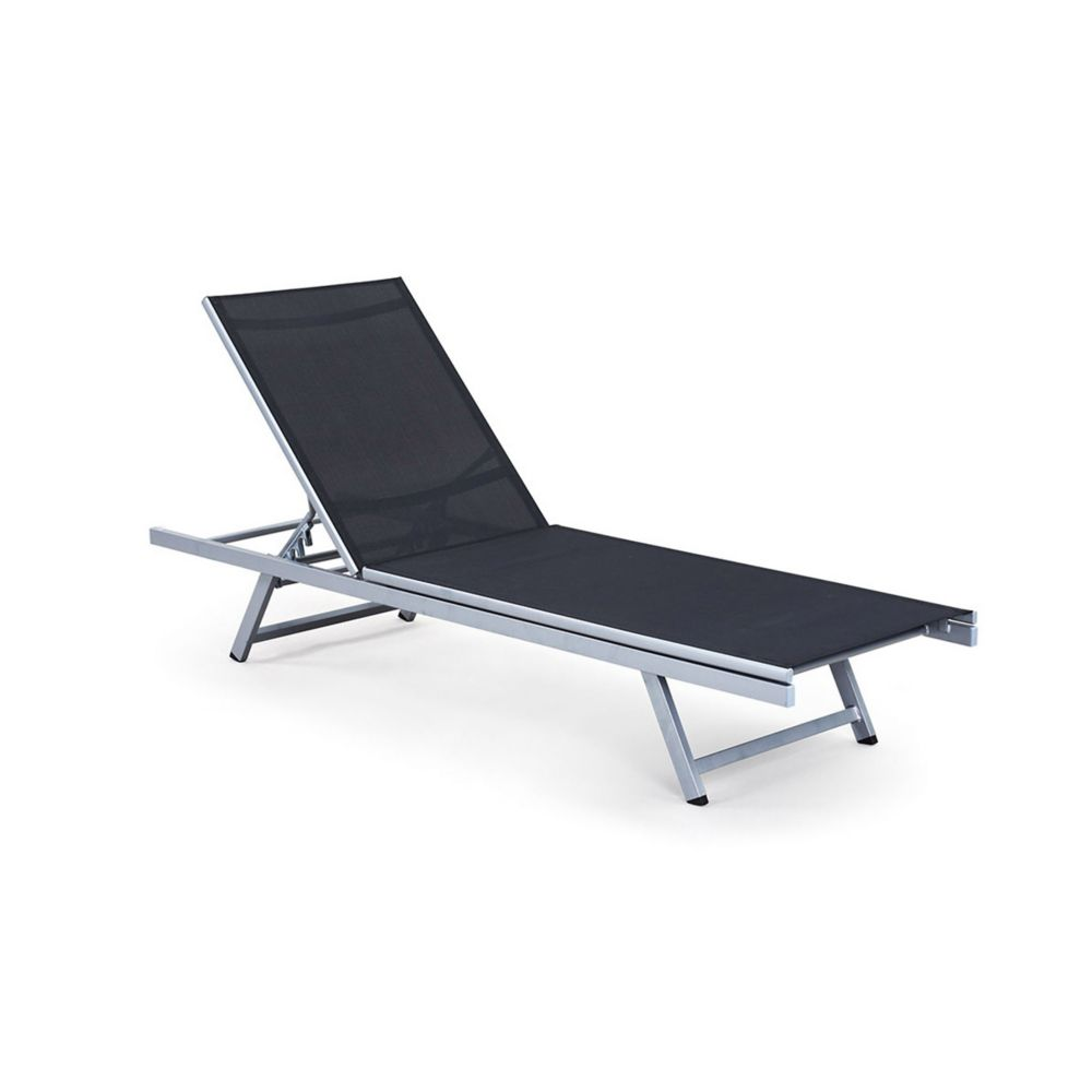 Corliving PJR-309-R Gallant Silver and Black Reclining Lounger