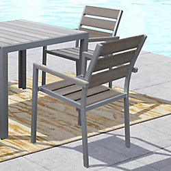 Gallant Outdoor Dining Chairs in Sun Bleached Grey (Set of 2)