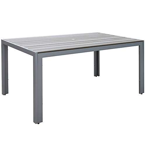 Table Gallant pour la terrasse, couleur gris blanchi