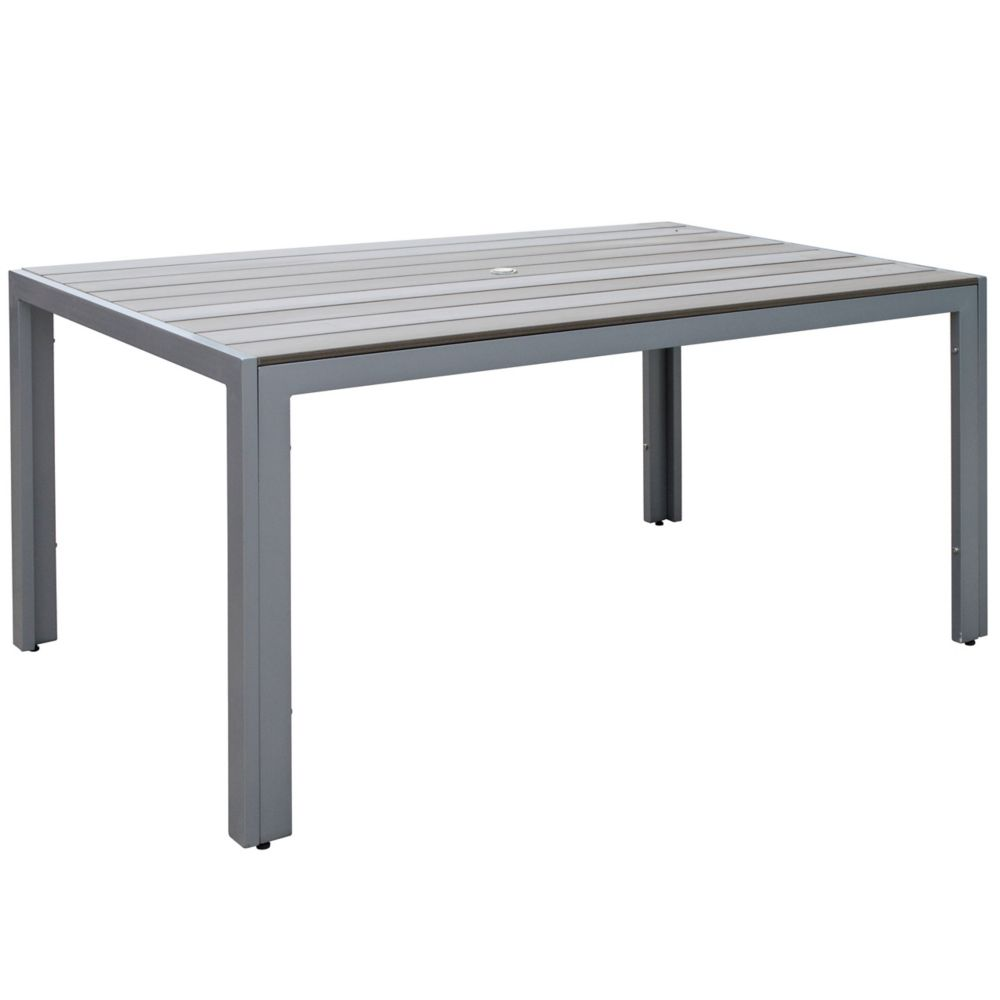 Corliving Gallant Outdoor Dining Table in Sun Bleached Grey