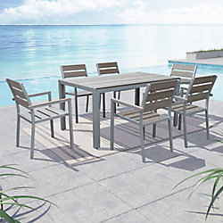 Gallant 7-Piece Outdoor Dining Set in Sun Bleached Grey