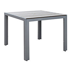 Gallant Square Outdoor Dining Table in Sun Bleached Grey
