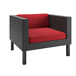 Oakland Patio Chair in Textured Black Weave