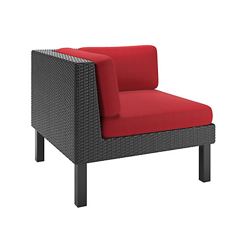 Oakland Corner Patio Sectional Seat in Textured Black Weave