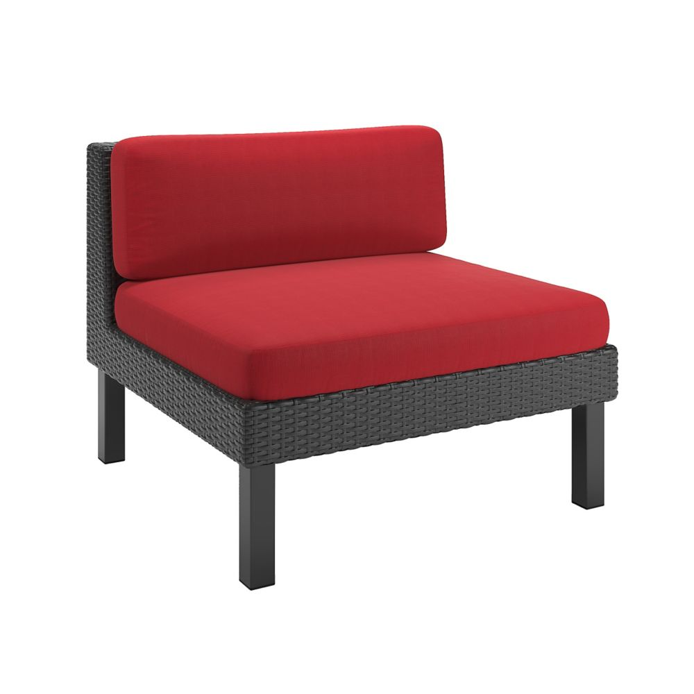 Oakland Middle Patio Sectional Seat in Textured Black Weave