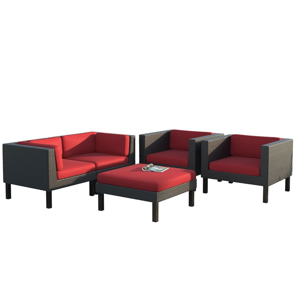 Corliving Oakland 5-Piece Patio Sofa and Chair Set
