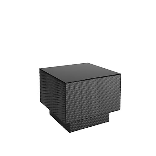 Park Terrace Patio End Table in Textured Black Weave