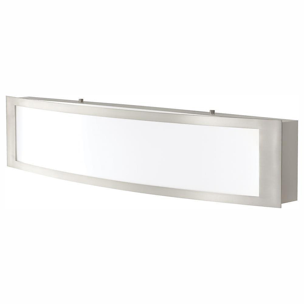 Applique de salle de bains, nickel brossé, à DEL intégrée, 24po - ENERGY STAR®