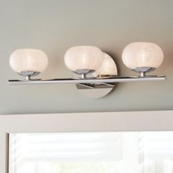 Home Decorators Collection 3-Light Bathroom Vanity Light Fixture in Chrome with Round Glass Shades