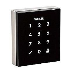 Weiser Obsidian Satin Nickel Keyless Entry Touchscreen Electronic Deadbolt