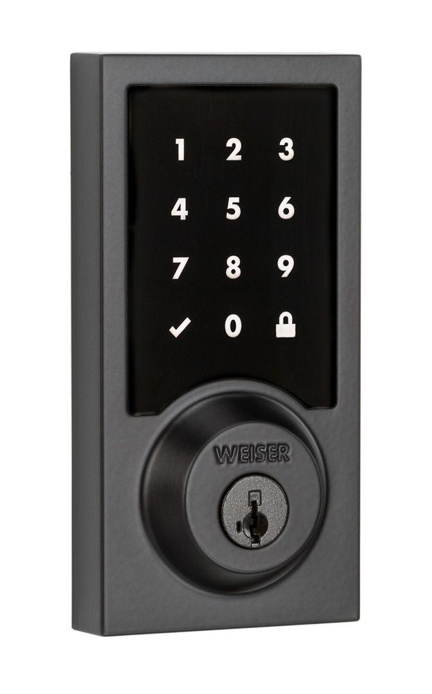 Weiser Premis Smartcode Matte Black Keyless Entry Touch Deadbolt