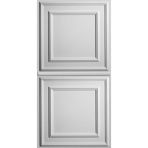 Ceilume Panneau plafond suspendu Cambridge 2pi x 4pi  Blanc