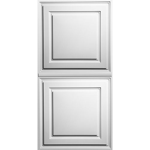 Ceilume Oxford White 2 Feet x 4 Feet Lay- Inch Ceiling Panel