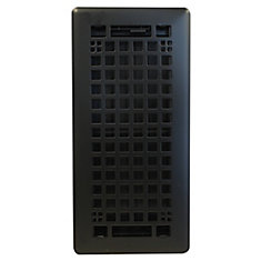 4x10 Inch Egg Crate in Black Matte Trio Pack with Beveled Edge