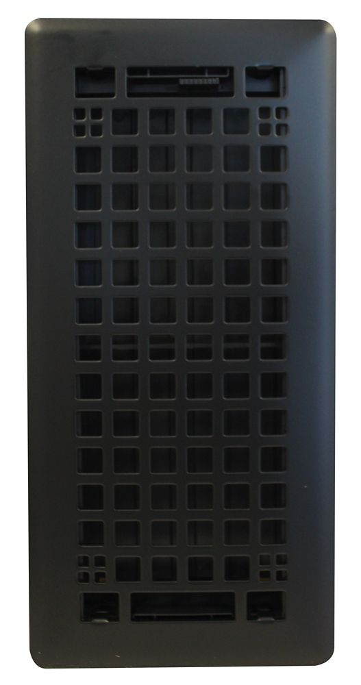 Hampton Bay 4x10 Inch Egg Crate in Black Matte Trio Pack with Beveled Edge