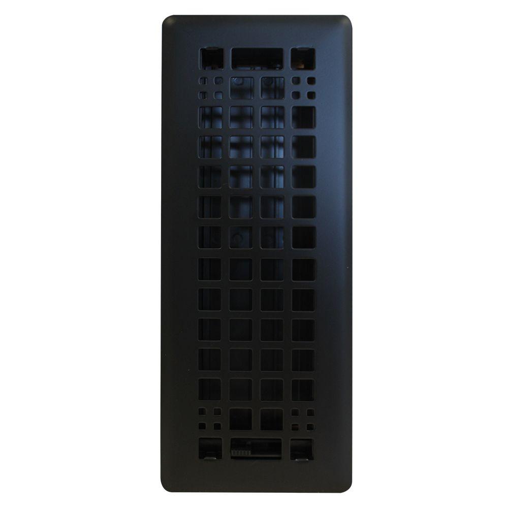 Hampton Bay 3-inch x 10-inch Egg Crate in Black Matte (3-Pack)