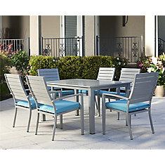 Blue Veil Aluminum Dining Set