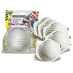 N95 Disposable Dust Mask - 5 Pack