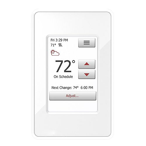 WarmlyYours nSpire Touch: Touch Thermostat - Programmable, Class A GFCI, w/Floor Sensor