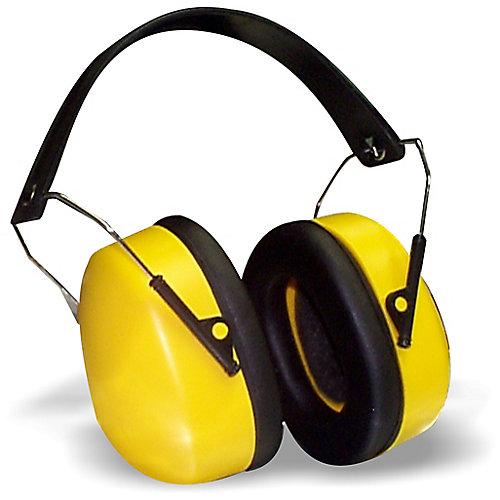 Collapsible Headband Earmuff  in Black/Yellow