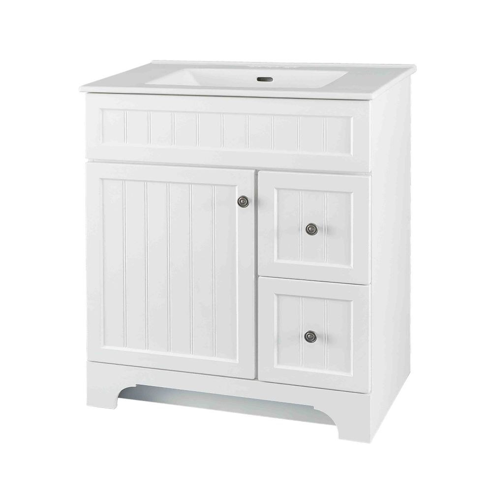 GLACIER BAY Whitton 30-inch W Vanity Combo with White Vitreous China