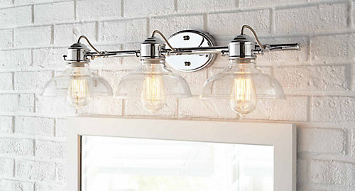 Home decorators collection delacorte 3 light bathroom vanity light delacorte 3 light bathroom vanity light fixture in chrome with clear glass shades aloadofball Choice Image