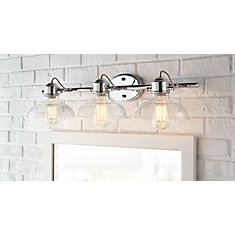 Vanity Lighting The Home Depot Canada - Chrome 5 light bathroom fixture