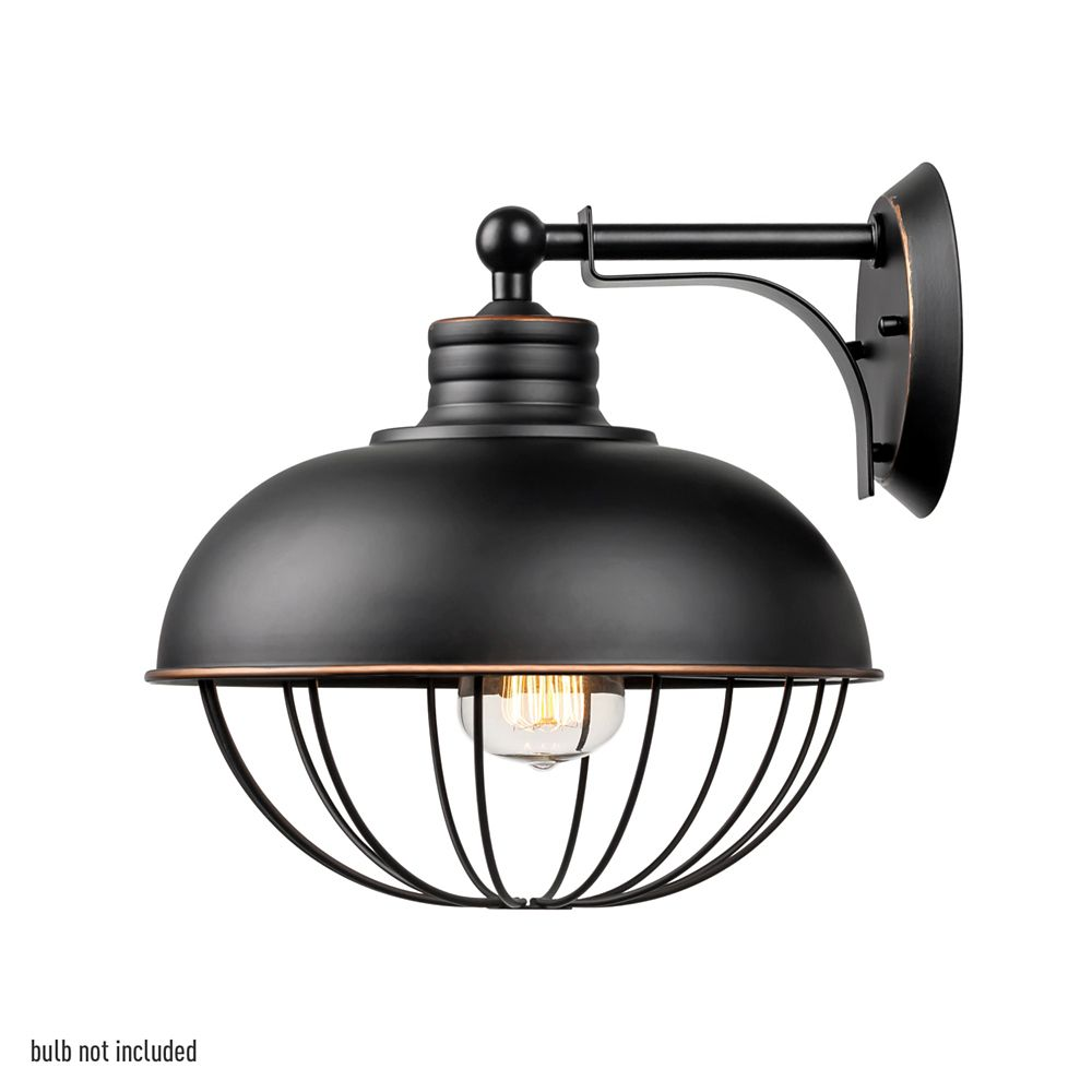 Elior 1 Light Oil Rubbed Bronze Industrial Caged Wall Sconce Globe Electric