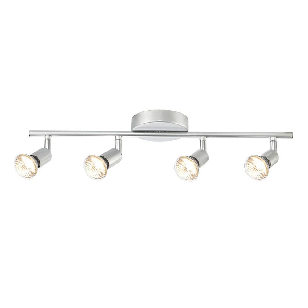 track lighting white. Payton 4-Light Matte Silver Adjustable Track Lighting Kit White K