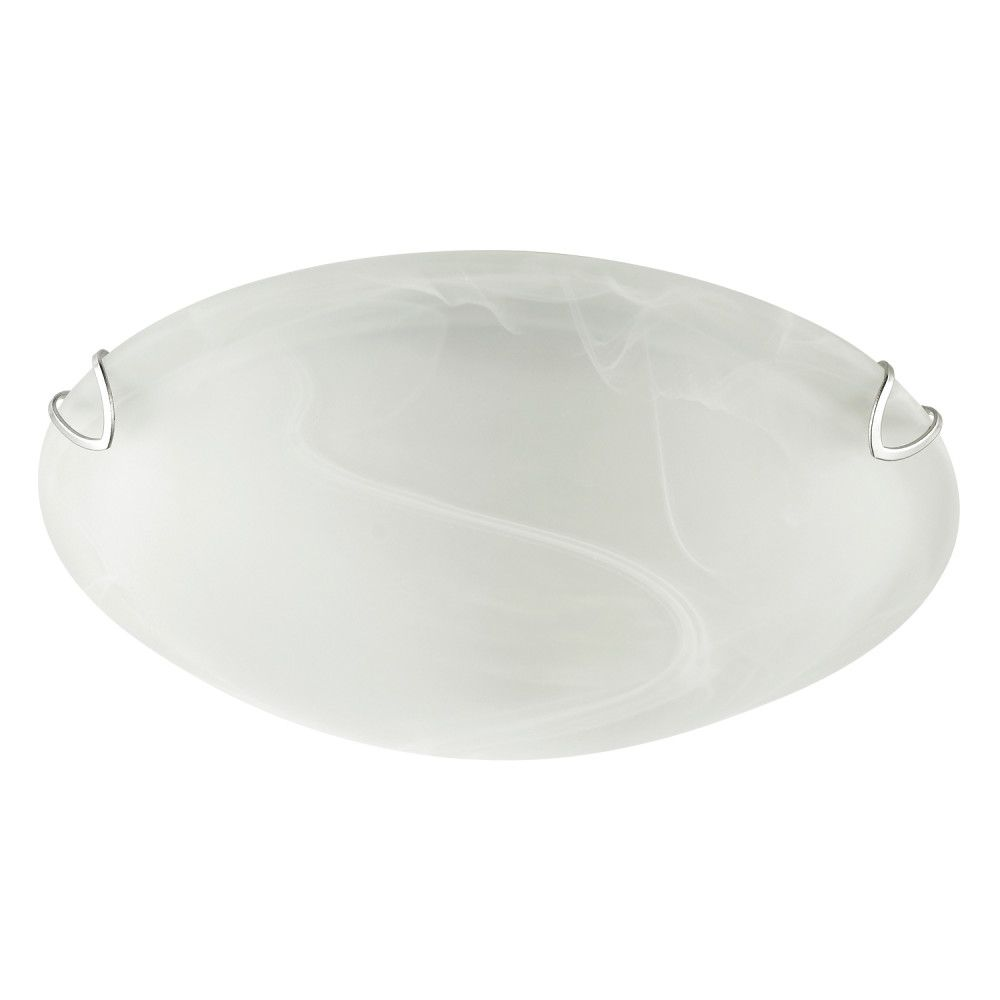 Globe Electric Pennington 10In Frosted White Alabaster Glass Flush Mount Ceiling Light (2-Pack)