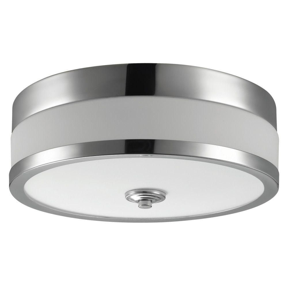 Globe Electric Carolina 11-inch 1-Light Chrome Flush Mount Ceiling Fixture