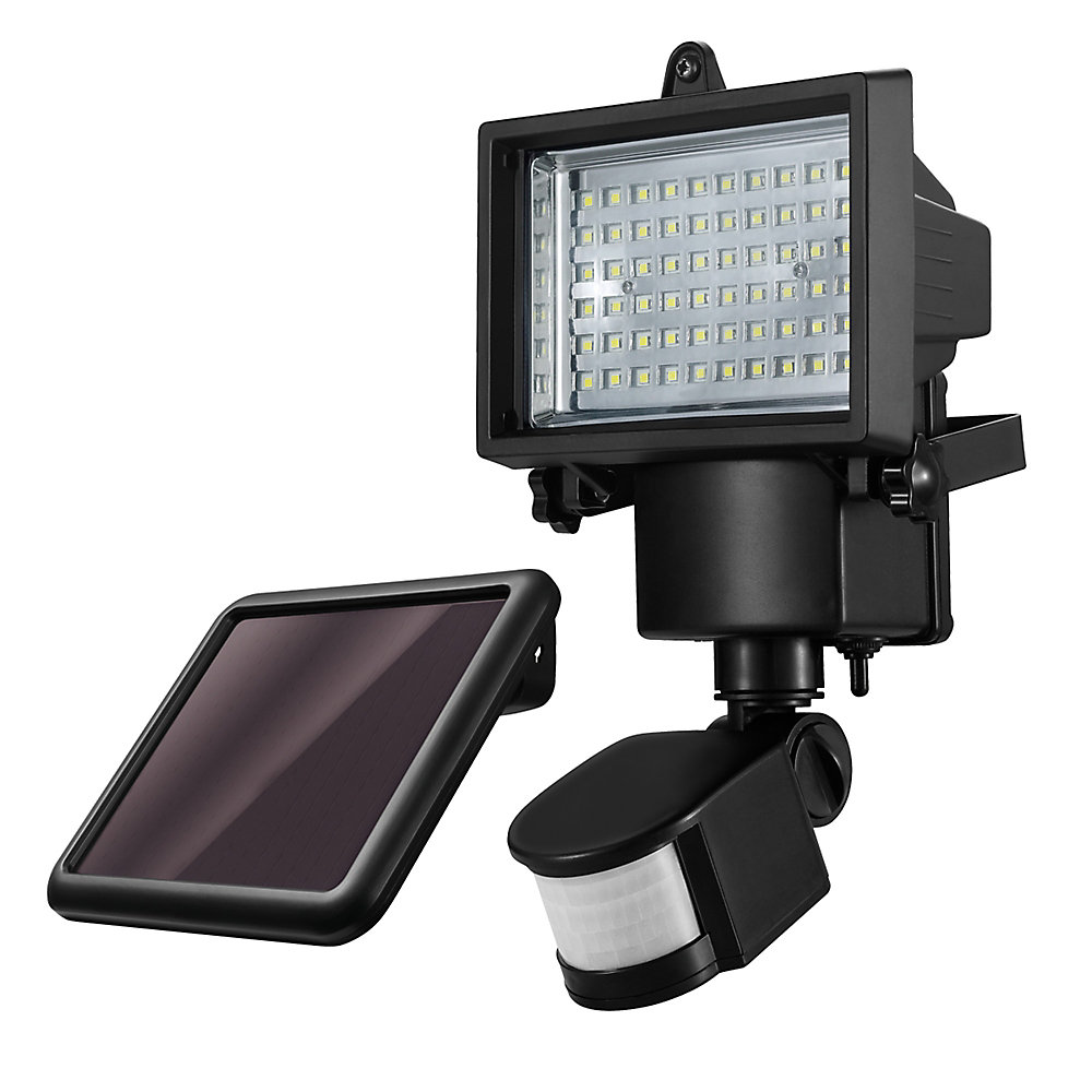 LED for Life 10W 180-Degree Motion Activated Solar Powered Integrated LED Outdoor Security Light
