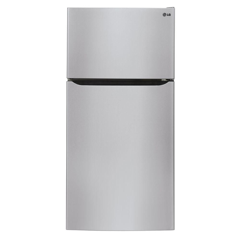 LG Electronics 20 cu. ft. Top Freezer Refrigerator with Premium LED Lighting in Stainless Steel - ENERGY STAR®