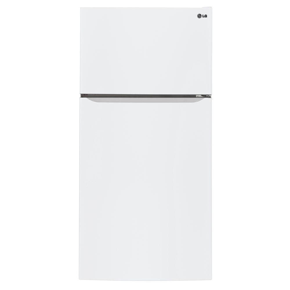 20 cu. ft. Top Freezer Refrigerator with Premium LED Lighting in White - ENERGY STAR®