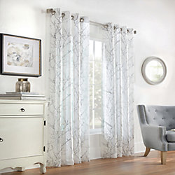 Home Decorators Collection Willow Sheer Grommet Curtain 52 inches width X 84 inches length, White