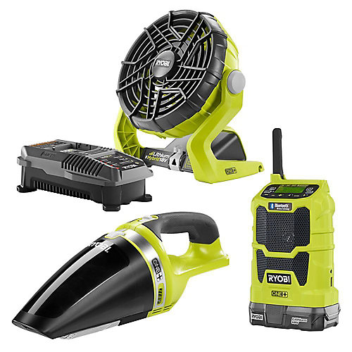 18V ONE+ Cordless Radio, Fan and Vacuum Combo Kit