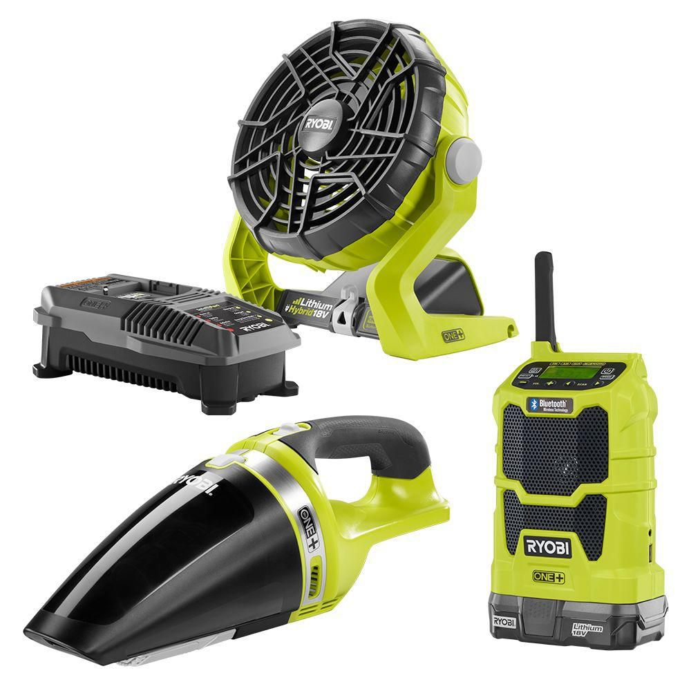 18V ONE+ Radio, Fan and Vacuum Kit