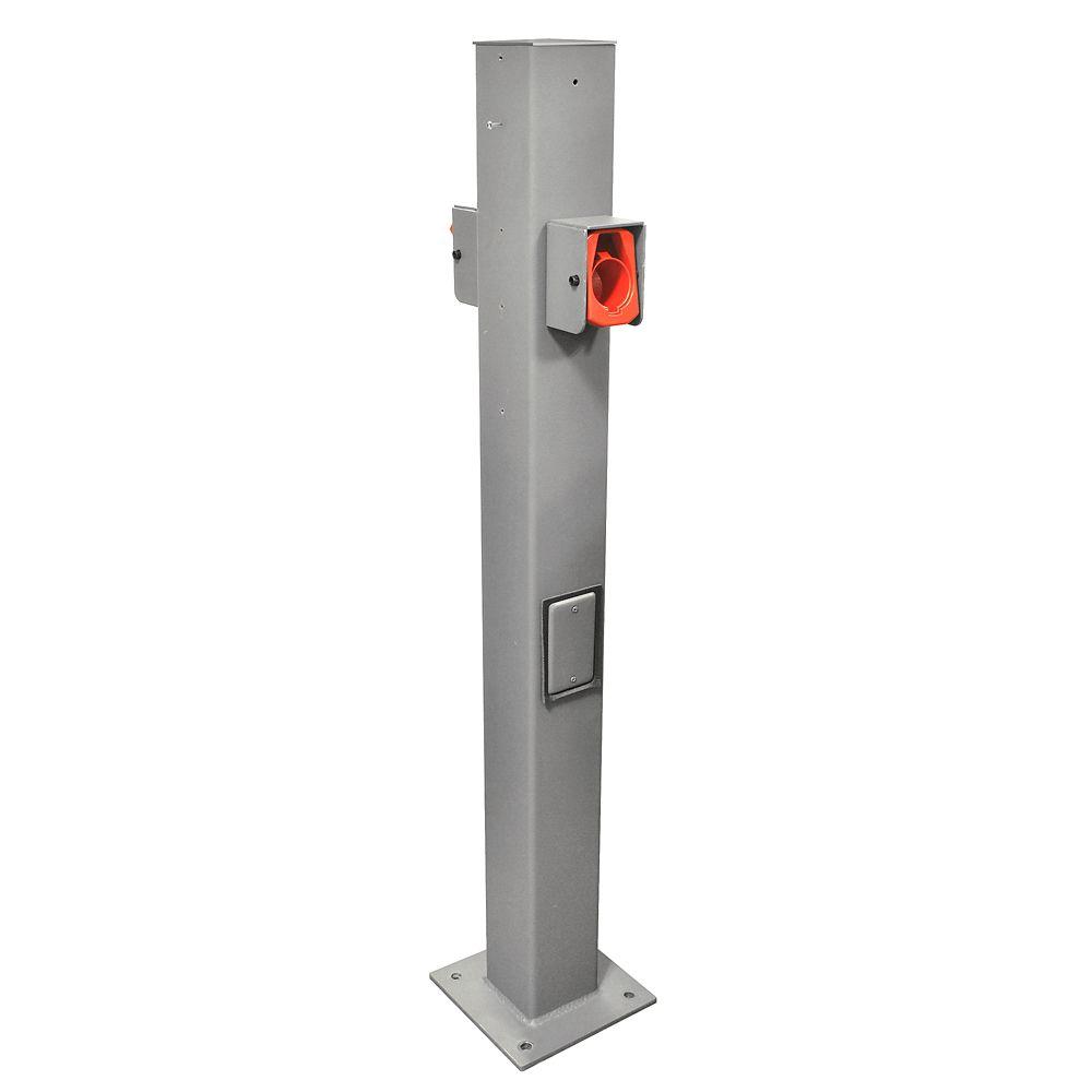 Leviton EV Pedestal Mounting Pole and Base