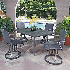 Home Styles Biscayne 5 Piece Patio Dining Set With 48 Inch