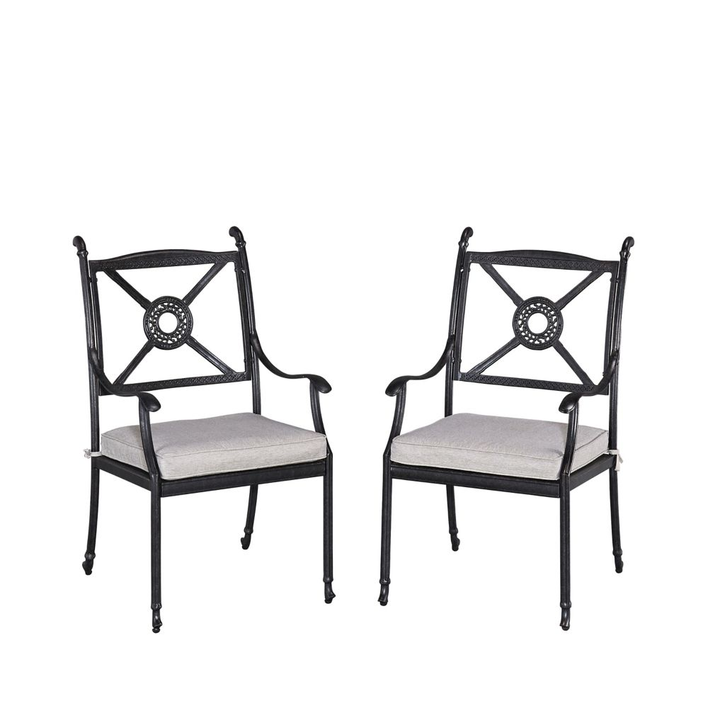 Home Styles Athens Patio Arm Chair with Cushion (Set of 2)