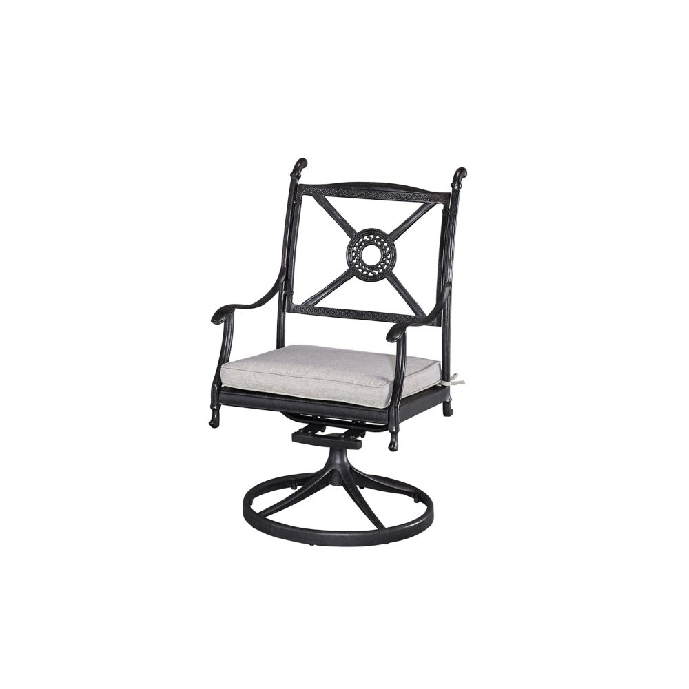 Home Styles Athens Patio Swivel Chair with Cushion