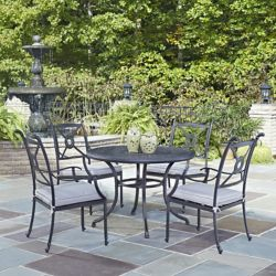 Home Styles Athens 5-Piece 42-inch Patio Dining Set with Arm Chairs