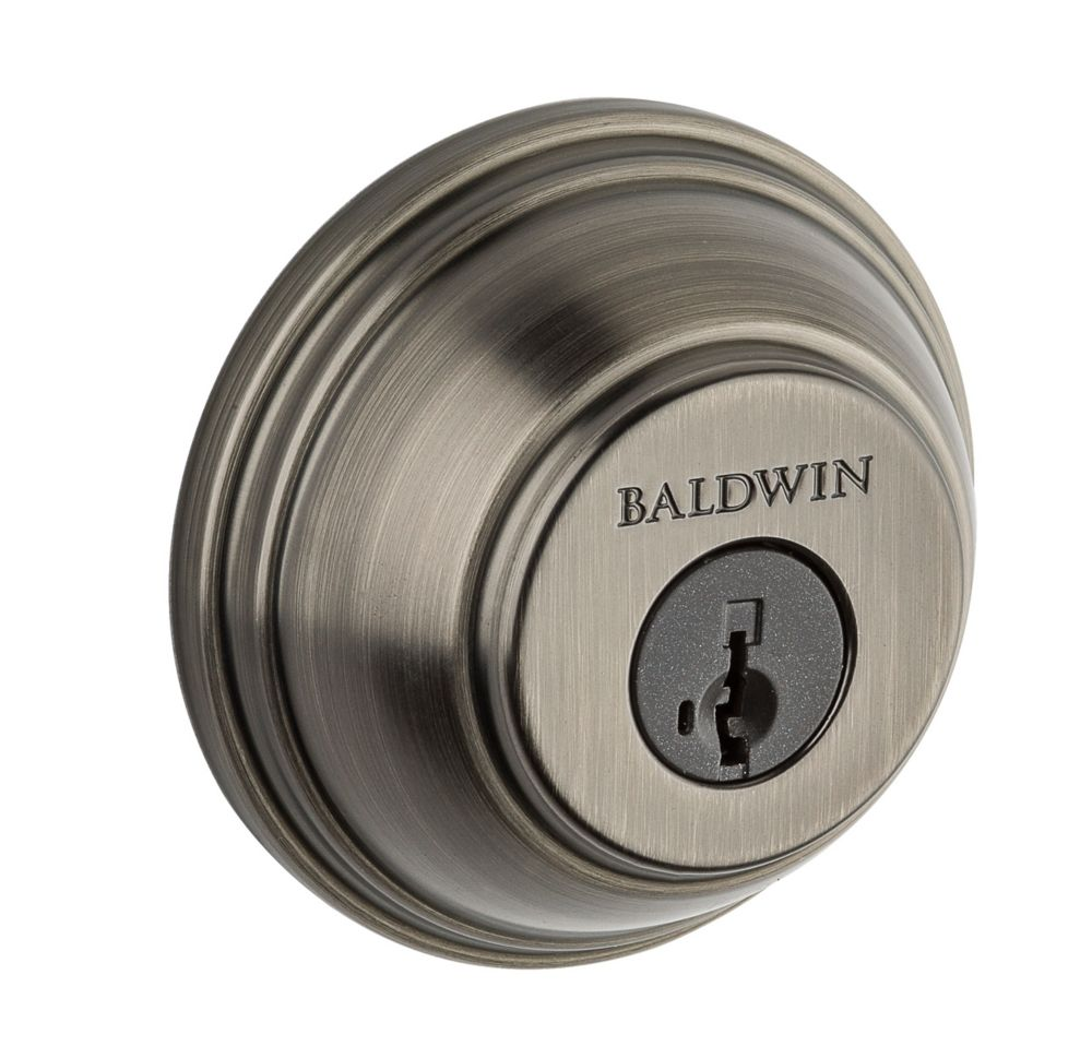 Weiser Single Cylinder Deadbolt in Slate