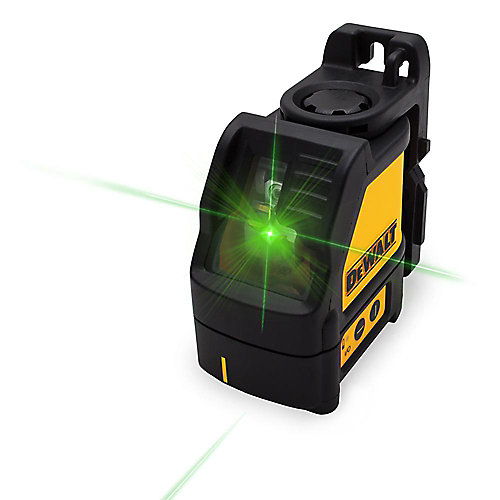 165 ft. Green Self-Leveling Cross Line Laser Level with (3) AAA Batteries & Case