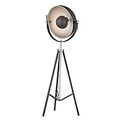 Titan Lighting Backstage 61 inch Adjustable Floor Lamp in Matte Black And Polished Nickel