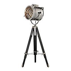Titan Lighting Curzon 67 inch Adjustable Floor Lamp in Chrome And Black