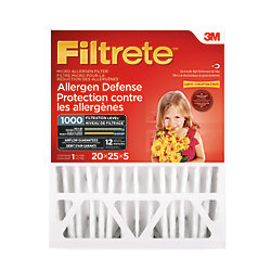 Filtrete Filters 20-inch x 25-inch x 5-inch Deep Pleat Allergen Defense MPR 1000 Furnace Filter