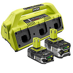 Kit SuperChargeur 18V ONE+ avec (2) Batteries Lithium-Ion
