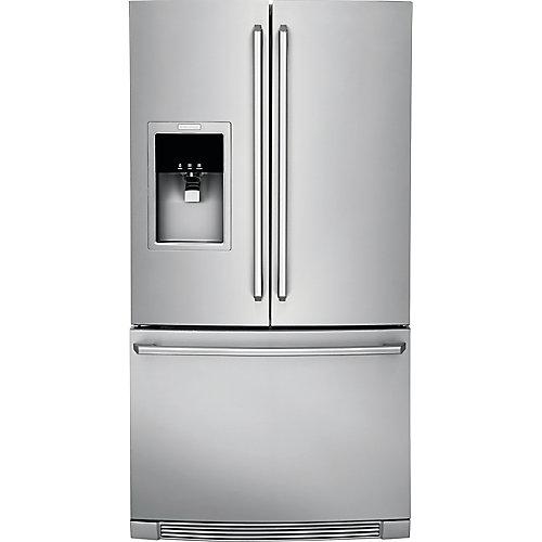 Réfrigérateur de 36 po W 21,5 pi. cu. en acier inoxydable à montage inférieur