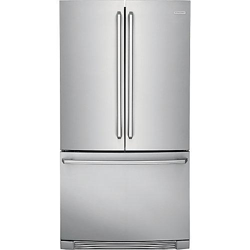 Réfrigérateur de 36 po W 22,2 pi3 à montage en bas avec commandes tactiles IQ-Touch.